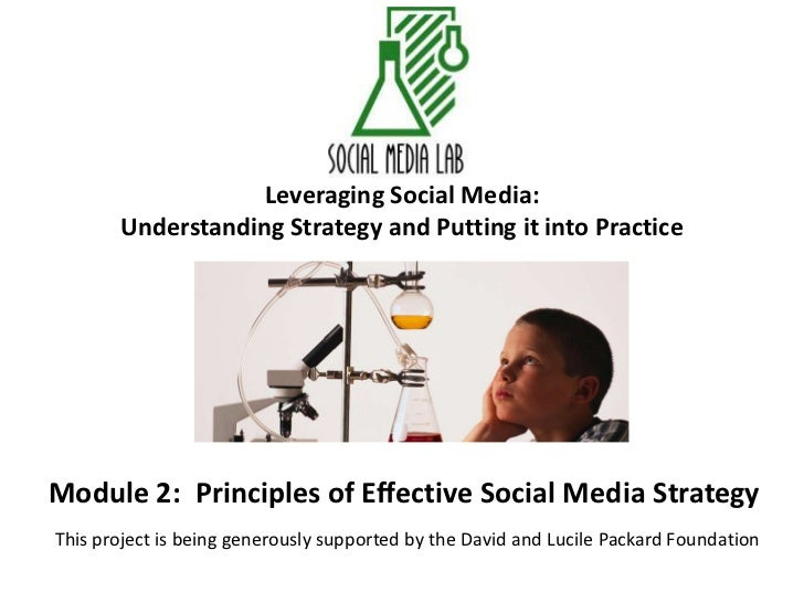 Leveraging Social Media:Understanding Strategy and Putting it into Practice<br />Module 2:  Principles of Effective Social...