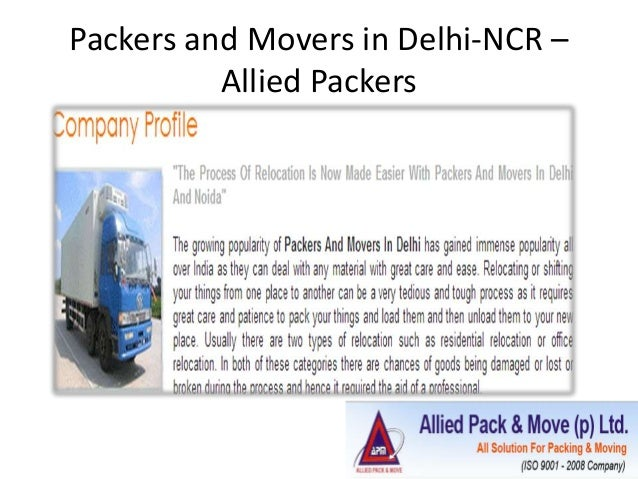 Packers and Movers in Delhi-NCR – Allied Packers
