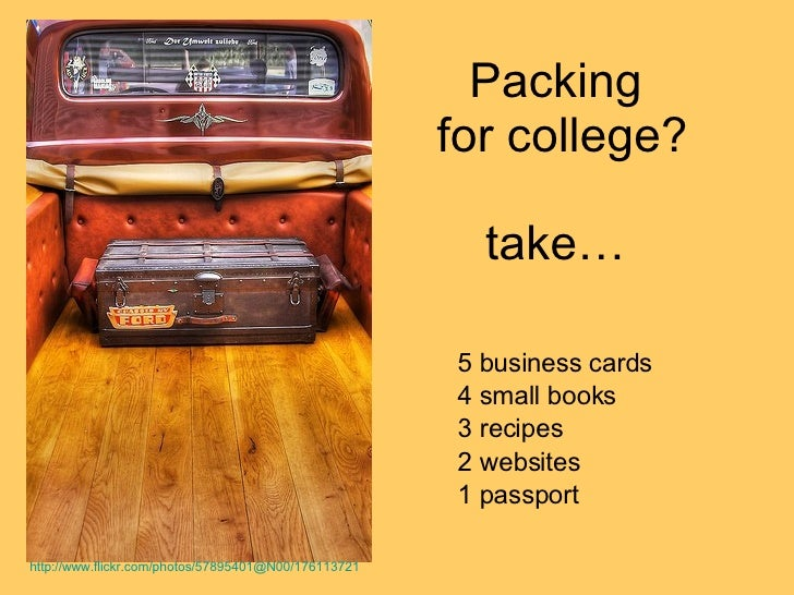 Packing for college