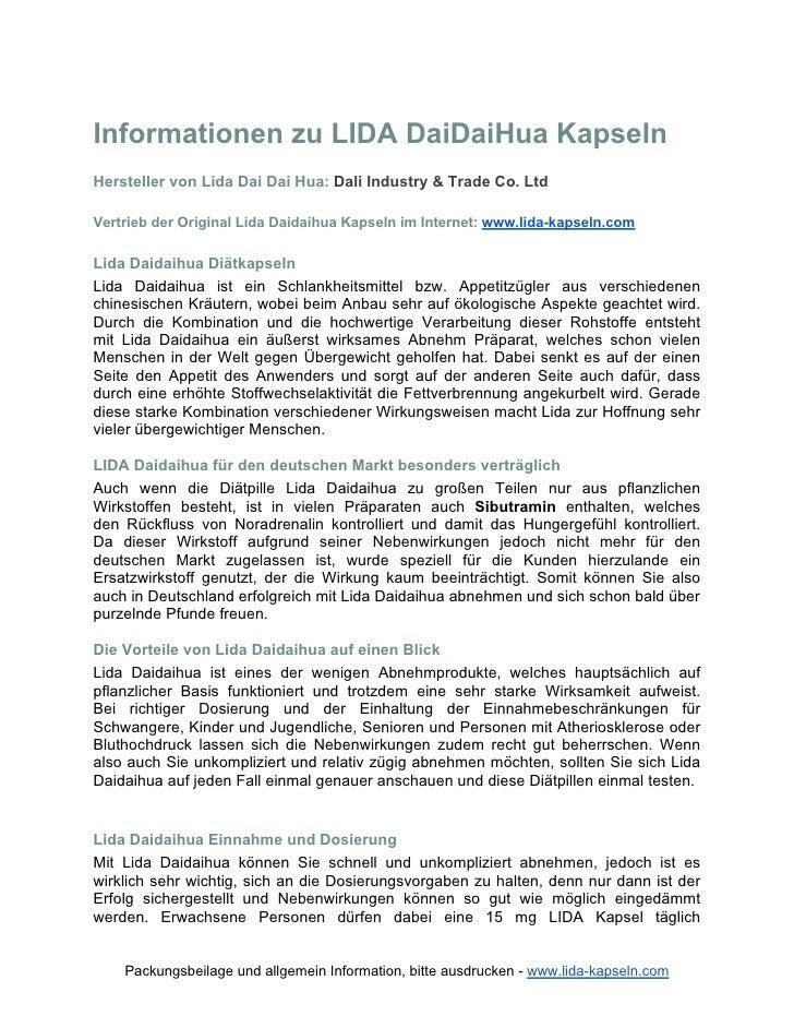 Informationen zu LIDA DaiDaiHua KapselnHersteller von Lida Dai Dai Hua: Dali Industry & Trade Co. LtdVertrieb der Original...