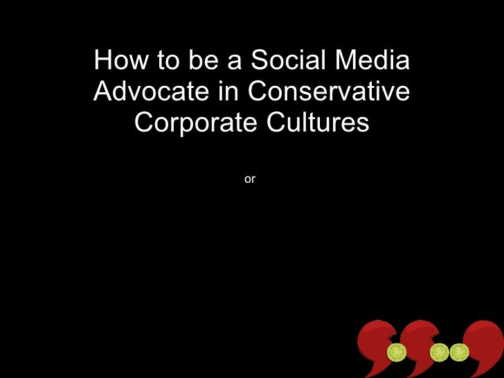How to be a Social Media Advocate