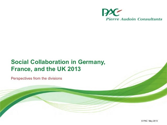 Social Collaboration in Germany, France, and the UK 2013
