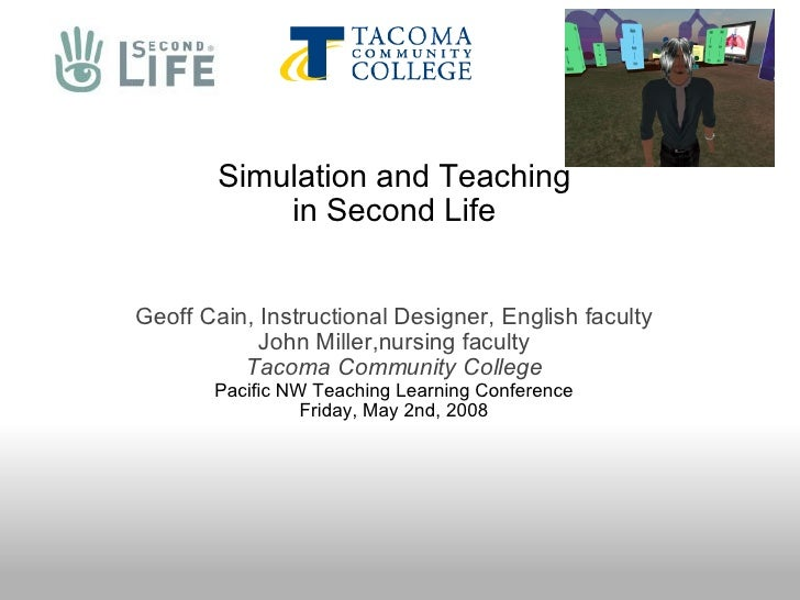 Simulation and Teaching in Second Life