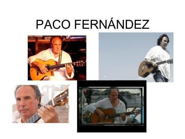 Paco Fernández flamenco  fusion guitarrist