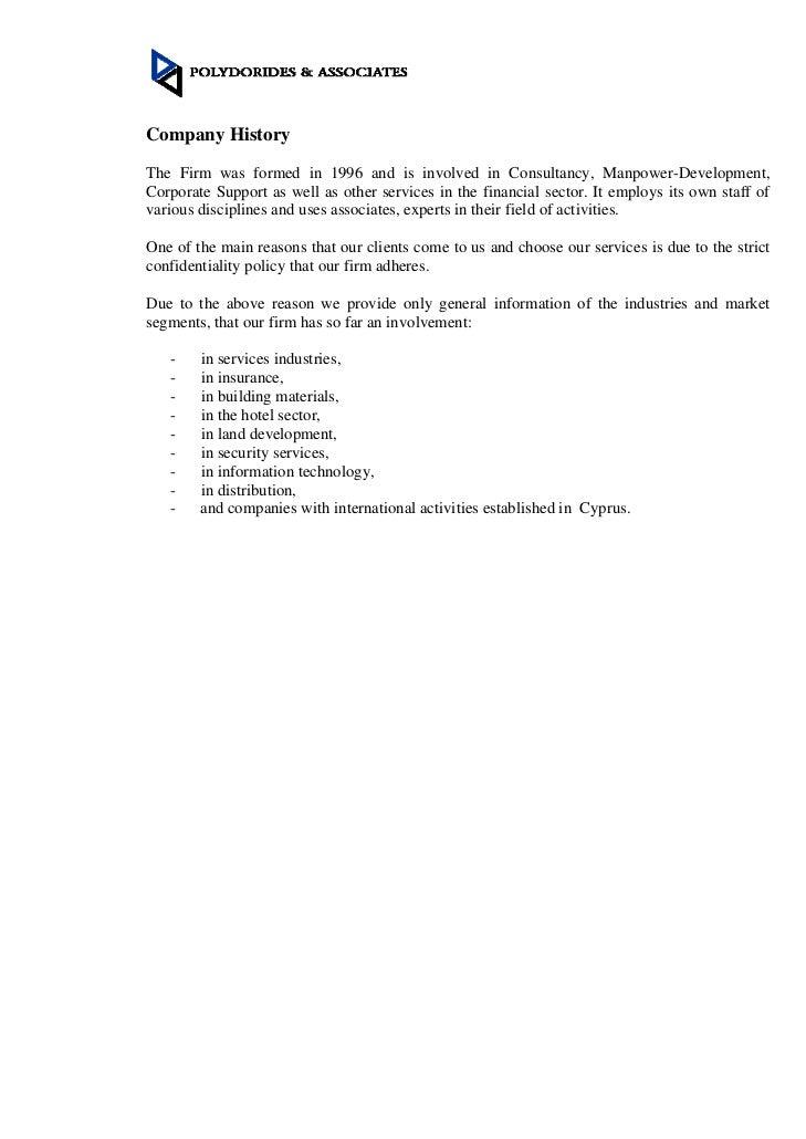 P&A company information