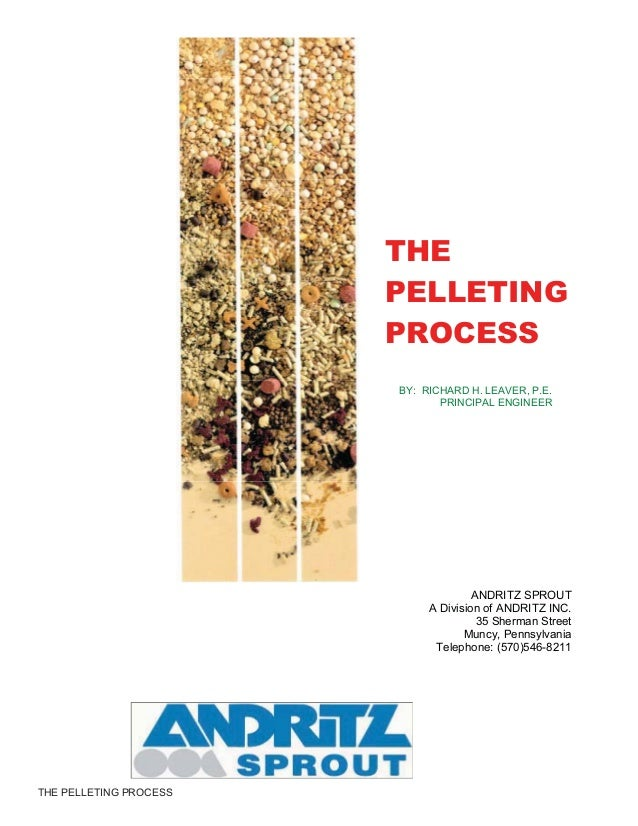 THE PELLETING PROCESS THE PELLETING PROCESS BY: RICHARD H. LEAVER, P.E. PRINCIPAL ENGINEER ANDRITZ SPROUT A Division of AN...
