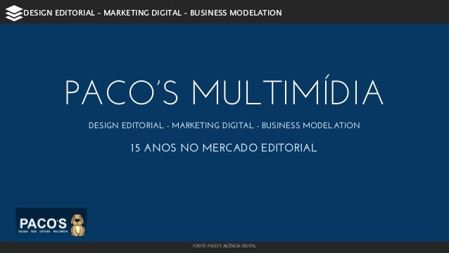 DESIGN EDITORIAL - MARKETING DIGITAL - BUSINESS MODELATION  PACO'S MULTIMÍDIA  DESIGN EDITORIAL - MARKETING DIGITAL - BUSI...