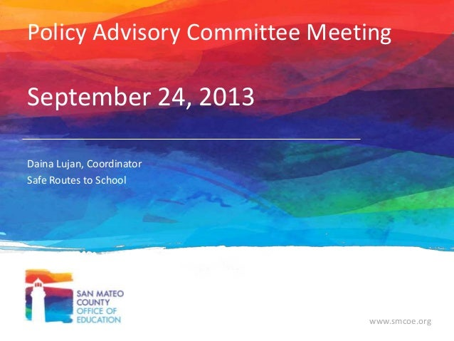 Policy Advisory Committee Sept 2013