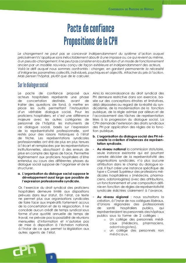 Pacte de confiance   propositions de la cph.