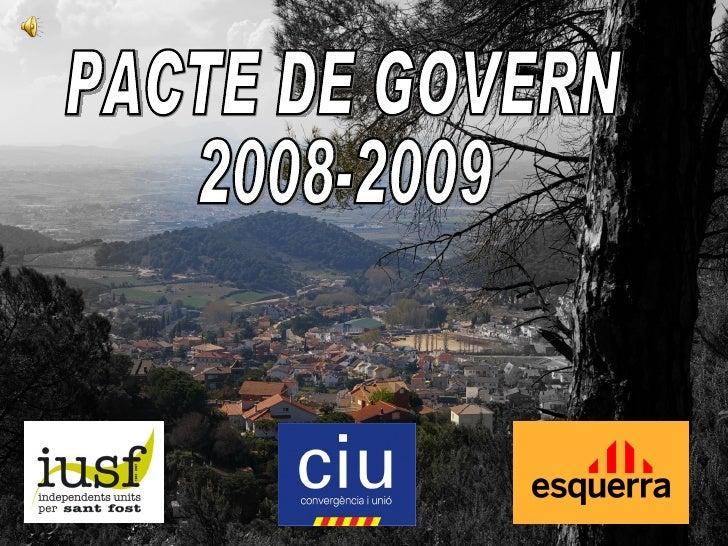 Pacte de Govern per Sant Fost (període 2008-2009)