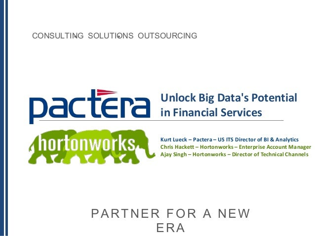 Unlock Big Data's Potential in Financial Services with Hortonworks