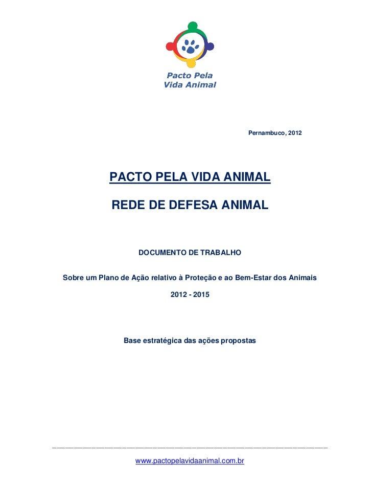 Pacto pela Vida Animal - Documento na íntegra
