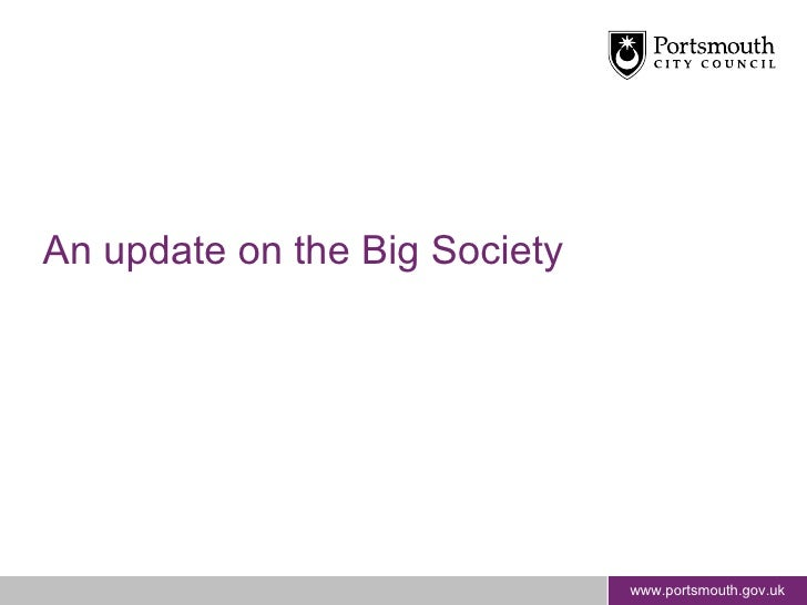 An update on the Big Society
