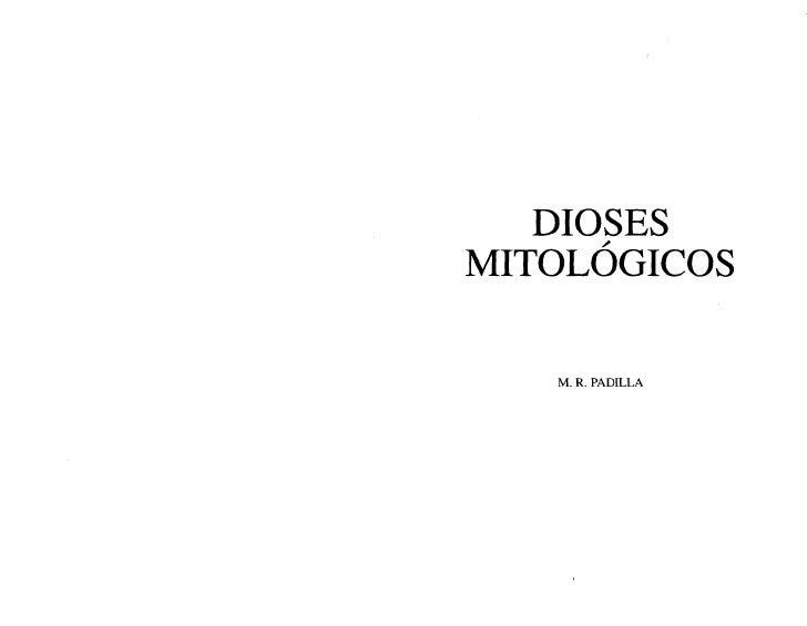 Padilla M R   Dioses Mitologicos