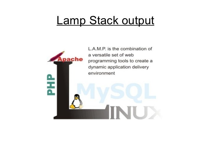 Lamp Stack output