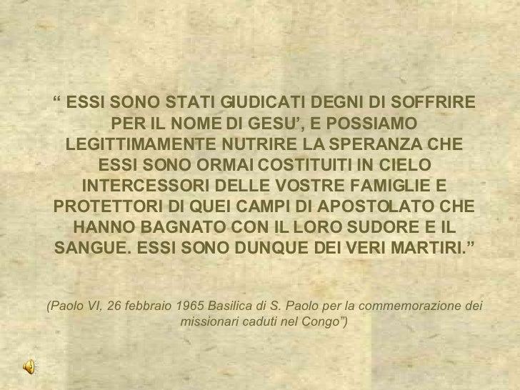 Padre Lorenzo Piazza martire Comboniano