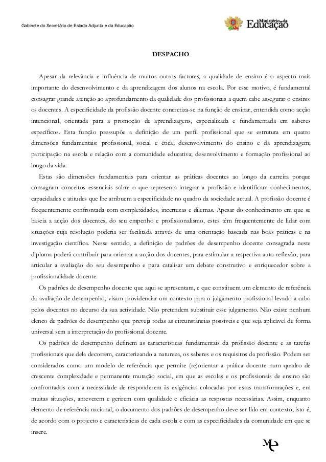 Padrões de desempenho docente   versão final 15 out 2010 - 16 20h[1]
