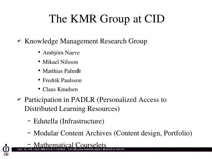 PADRL Presentation 2001-11-03
