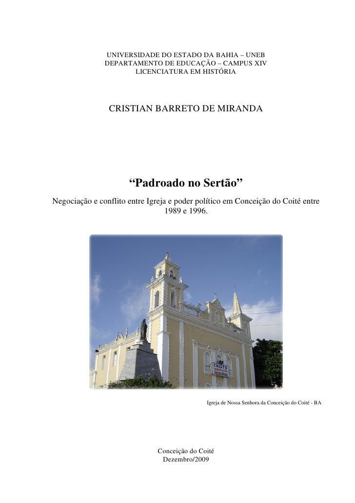 1               UNIVERSIDADE DO ESTADO DA BAHIA – UNEB               DEPARTAMENTO DE EDUCAÇÃO – CAMPUS XIV                ...