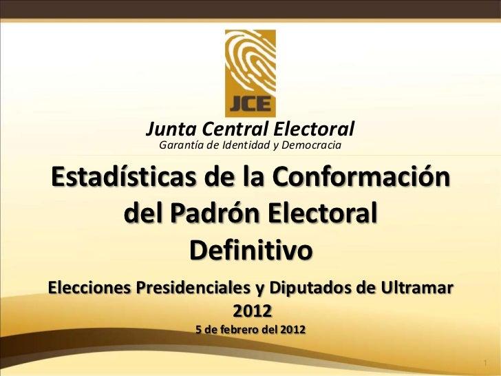 Padron electoral definitivo al 5 de febrero 2012 v4