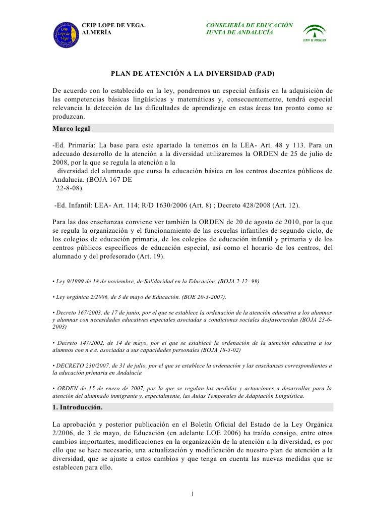 CEIP LOPE DE VEGA.                                CONSEJERÍA DE EDUCACIÓN           ALMERÍA                               ...