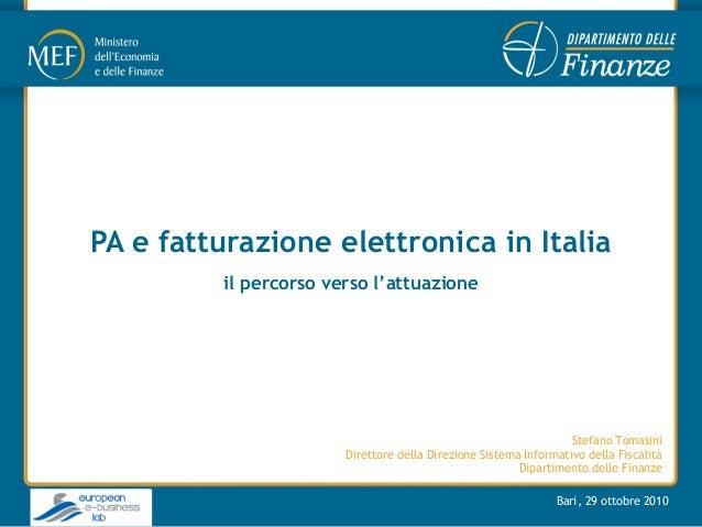PA e fatturazione elettronica in italia