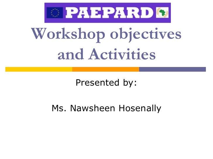 PAEPARD PIW1 (Mauritius) - Presentation 2