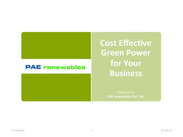 Cost Effec*ve                    Green Power                      for Your                      Business     ...