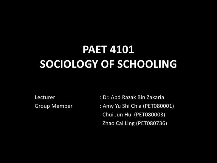 Paet 4101 sociology of schooling - The Relationship Between School & Community Structure, Differences in Socioeconomy Status