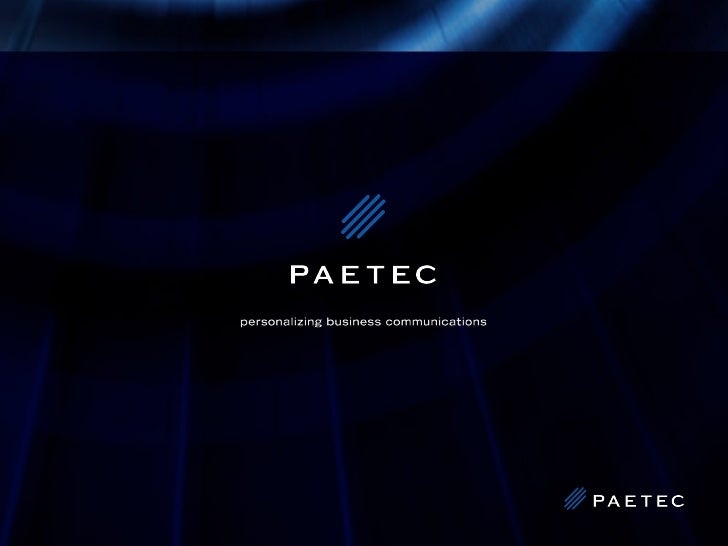 Paetec Overview