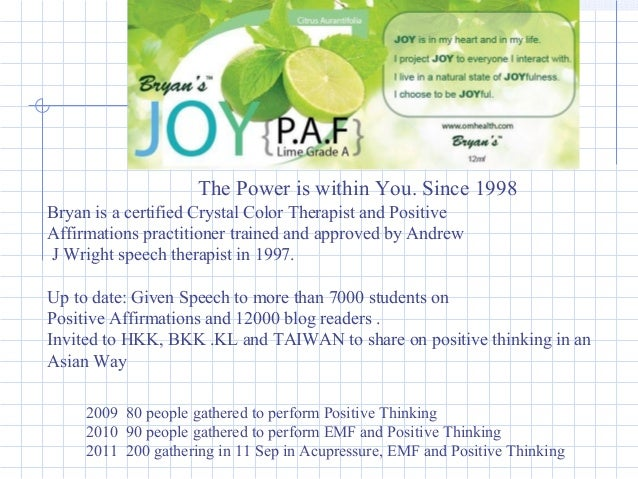 2009 80 people gathered to perform Positive Thinking 2010 90 people gathered to perform EMF and Positive Thinking 2011 200...