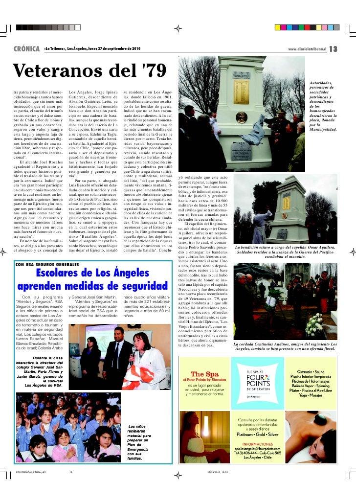 CRÓNICA            «La Tribuna», Los Ángeles, lunes 27 de septiembre de 2010                                              ...