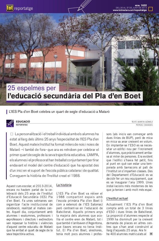Reportatge El Tot Mataró