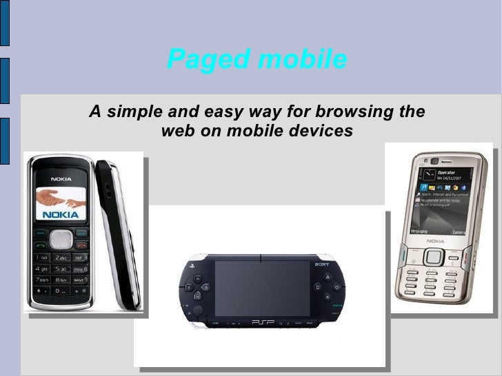 Paged Mobile presentation: an easy way of browsing the web