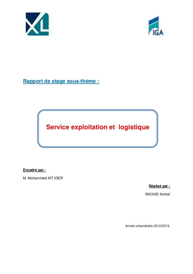 Rapport De Stage Page De Garde Exemple Pictures to pin on Pinterest