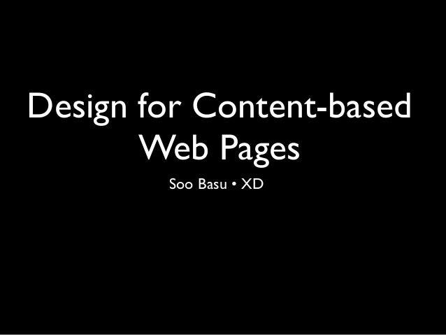 Principles for designing Information-based websites