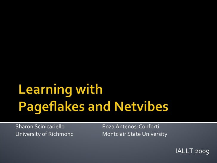Learning with Pageflakes and Netvibes