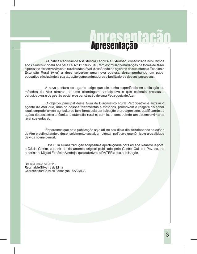 Apresentação                                           Apresentação               A Política Nacional de Assistência Técni...