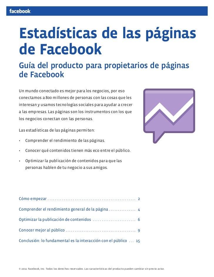 Guía de nuevas estadísticas en Facebook