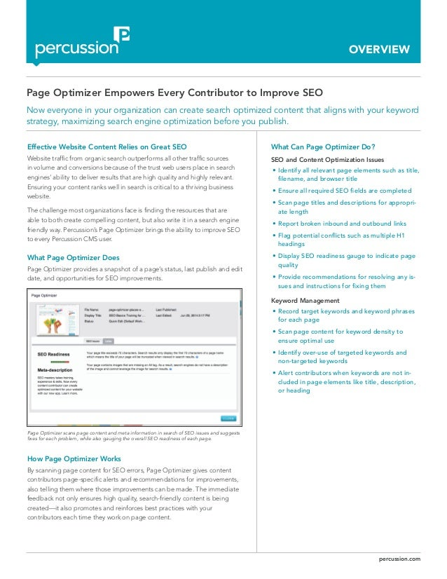 Page Optimizer Empowers Every Contributor to Improve SEO