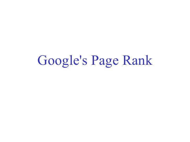 Google's Page Rank