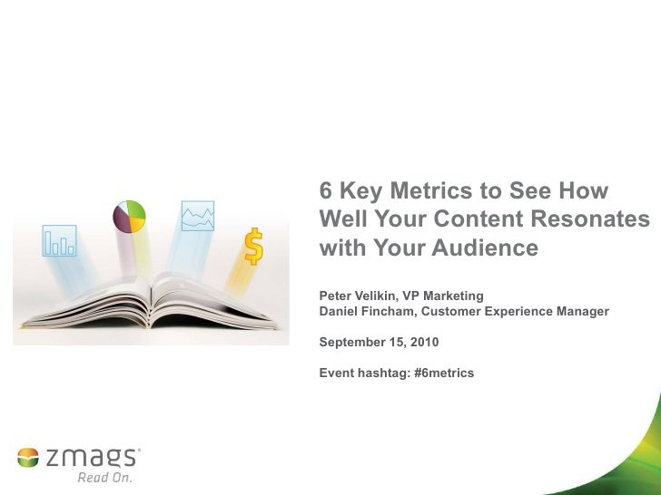 6 Key Metrics to See How Well Your Content Resonates with Your Audience Peter Velikin, VP Marketing Daniel Fincham, Custom...