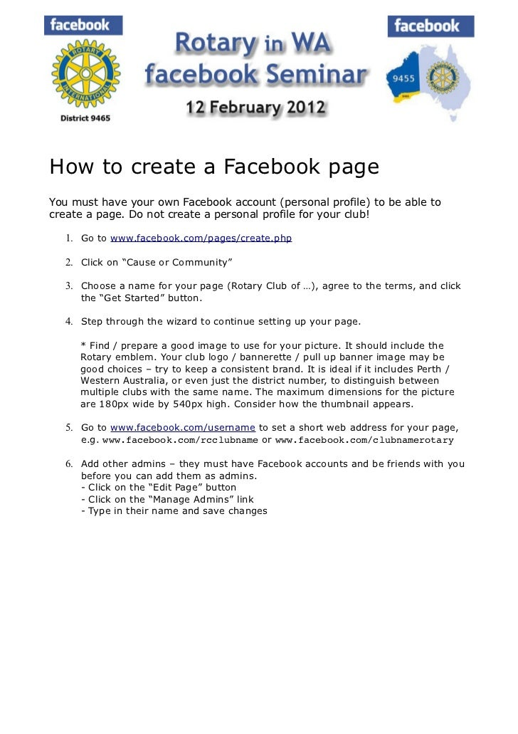 How to create a Facebook pageYou must have your own Facebook account (personal profile) to be able tocreate a page. Do not...