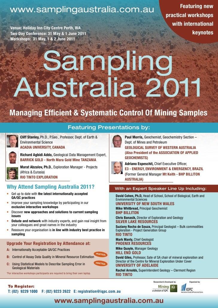 Sampling Australia 2011