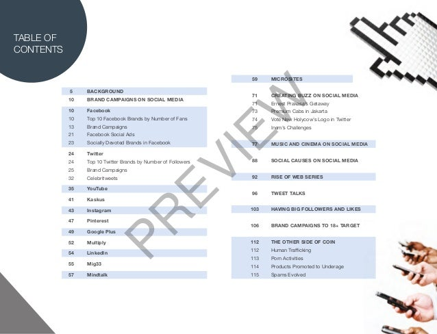 TABLE OFCONTENTS                                                                59    MICROSITES           5    BACKGROUND...