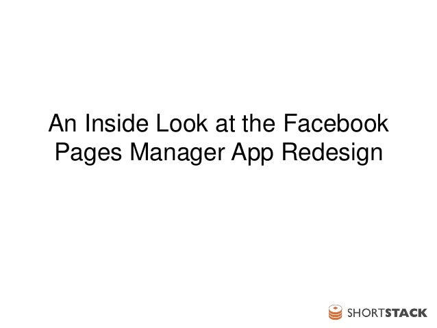 An Inside Look at The New Facebook Pages Manager App