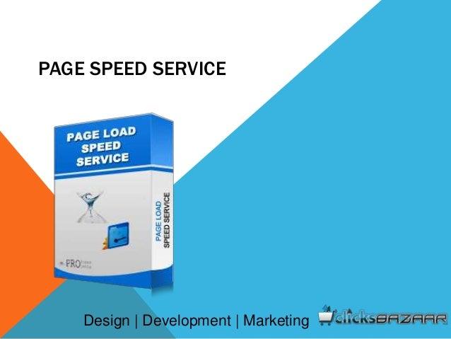 PAGE SPEED SERVICE Design | Development | Marketing