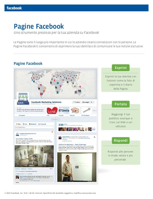 Pagine Facebook           Uno strumento prezioso per la tua azienda su Facebook          Le Pagine sono il luogo più impor...