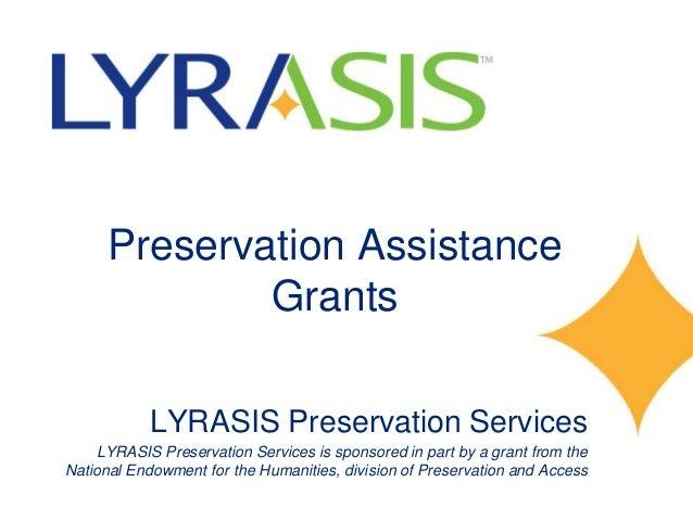 Preservation Assistance Grant informational session