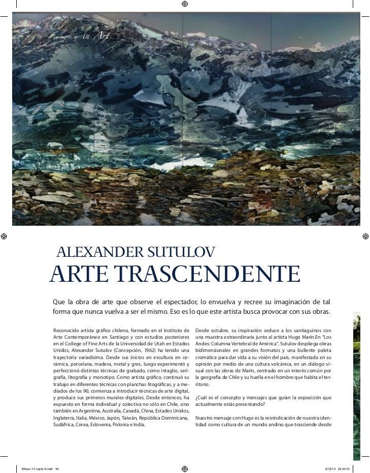 34 MOSSO                       l                                 in Art                      ALEXANDER SUTULOV            ...